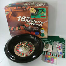 16-Inch Roulette Wheel Game Set with Chips & Full Size Felt Layout