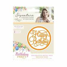 SALE New Sara Davies Metal Cutting Dies Birthday Party Wish