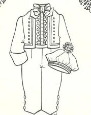 "Sewing Pattern man  Boy doll size 23-24 ""  suit & hat Shirt 981"