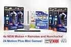 Wii Nintendo Console 4 PLAYER Bundle, 4x Remotes, 24 GAMES inc Sports Resort
