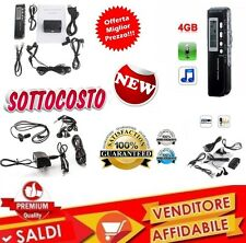 MINI REGISTRATORE DIGITALE 4 GB USB VOCALE E TELEFONICO SPIA VOX RICARICABILE