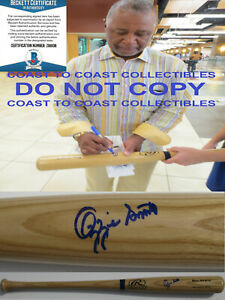 Ozzie Smith St Louis Cardinals Padres autographed baseball bat proof Beckett COA