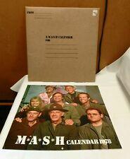 "Vintage 1978 M*A*S*H Calendar 13"" X 12""  With Original Sleeve 1970s/80s TV Show"