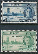 1946 FIJI WORLD WAR II VICTORY SET OF 2 MINT MH SG268-SG269
