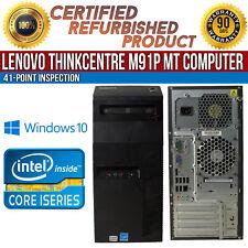 Lenovo ThinkCentre M91p MT Intel i5 4GB RAM 500GB HDD Win 10 USB B Grade Desktop