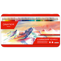 Caran D'Ache Supracolor Artista Morbido Idrosolubile Colore Matita 80 Set
