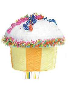 Pinata Pull Cupcake Birthday Food Sweets Party Bash Game Decoration Mexican New