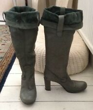 Carvela Green Soft Leather Boots Size 36 Fit UK 3