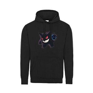 Kids Pokemon Gengar Hoodie Black