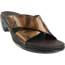 fa3e4773cbb2 Aravon Paola WSP01BM Brown Patent Sandals Shoes 9 EE