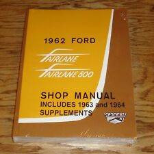 1962 Ford Fairlane & 500 Shop Service Manual 62 w 1963 1964 Supplements