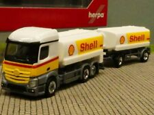1/87 Herpa MB Actros StreamSpace Shell Benzintank Hängerzug 310437