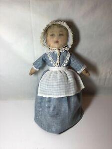 Bruckner Topsy-Turvy Mask Faced Fabric Doll 1901