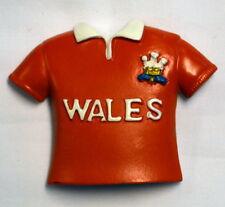 Welsh Red RUGBY SHIRT design FRIDGE MAGNET,  Wales / Cymru