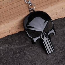 Mens Cartoon Shape Black Fashion 1pc Punk Skull Metal Keychain Punisher Mask New