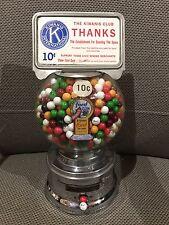 TEN CENT Ford Gum Machine Penny gumball Vending Northwestern Oak Gift