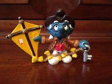 Smurfs Historical Benjamin Franklin Smurf Rare Vintage Toy Original Schleich