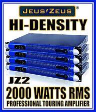 Lot (4) JEUS ZEUS 2000W RMS 1U POWER AMPLIFIER FOR SUBWOOFER LINE ARRAY MONITOR