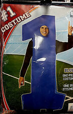 #1 costume - Sports fan - Adult Costume - Blue, Red, Green, Orange, Yellow #1