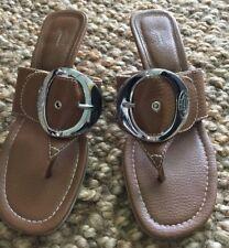 842c325f9c8c04 Dr Scholls Feel Crazy Good Women Size 7.5 Thong Sandals Slides Heels T Strap