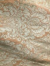 BEIGE BROWN DAMASK CHENILLE UPHOLSTERY BROCADE FABRIC (54 in.) Sold BTY