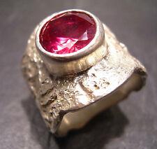 Maturo-Design-Rubin-ring di propria oreficeria - 999 argento finemente