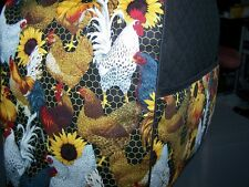 Roosters & Hens Sunflowers Quilted Fabric Cover for KitchenAid Mixer NEW