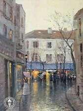Montmartre - Paris France City of Art Umbrella - Thomas Kinkade Dealer Postcard