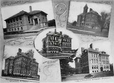 """ST.THOMAS Ontario CANADA """"Buildings"""" in 1906 Reprint on Pro Glossy Paper"""