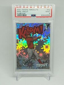 *PSA 9* Mike Trout 2021 Absolute Baseball - Kaboom! SSP - Los Angeles Angels