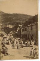 Algérie, Béjaïa (بجاية), Un Marché  Vintage albumen print.  Tirage albuminé