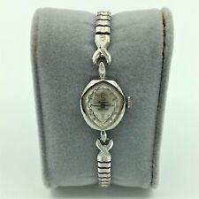 Vintage Jules Jurgensen Swiss 14K White gold 17J Ladies Wrist Watch #53556 Runs