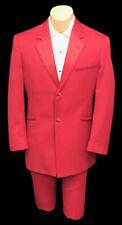 Men's Bright Red Andrew Fezza Monaco Tuxedo Jacket Retro Wedding Prom 46 X-Long