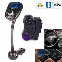 Bluetooth Auto FM Transmitter Car MP3 Player Freisprechanlage USB SD AUX KFZ BK
