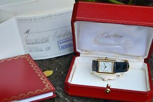 Super Rare Must De Cartier Tank 2415, Serviced with Original Box and Papers