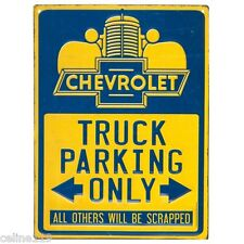 Chevrolet Truck Parking Only Metal SIGNS MAN CAVE DECOR GAS PUMP DAD GIFT