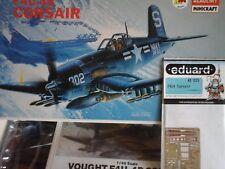 VOUGHT F4U-4B CORSAIR 1/48 SCALE ACADEMY MINICRAFT MODEL+PHOTOETCHED PARTS