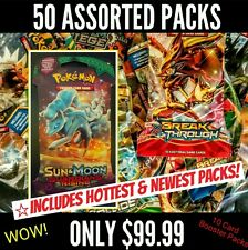 Pokemon LOT Assorted XY BOOSTER PACKS LOT OF 50 Packs 2014-2017 GUARDIANS RISING