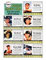 1961 Post Cereal Baseball Reprint Uncut Sheet # 6111