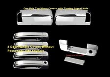 FOR 10~14 15 16 Dodge Ram 2500/3500 Chrome Towing Mirror Handle tailgate Covers