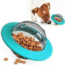 Dog Cat Feeder Toys Food Dispenser Treat Flying Disc Interactive Toy IQ R8N1