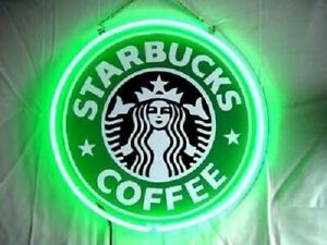 """Starbucks Coffee Neon Sign Lamp Light 12""""x12"""" 3D Acrylic With Dimmer"""