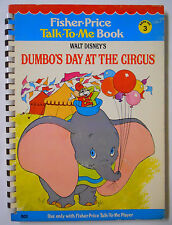 VINTAGE! 1978 Fisher Price Talk-To-Me Book #3-Dumbo's Day at the Circus
