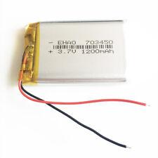 3.7V 1200mAh Lipo Polymer Battery For PAD Cell phone Cameras radios GPS 703450