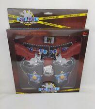 Policía pistola de Pistola Táctica Conjunto Super arma, niños juguete elaborado vestido Insignia Nuevo