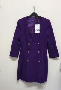 Zara BUTTONED BLAZER DRESS Size UKM {R160}