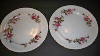 2 ROYAL ROSE FINE CHINA  DINNER PLATES 10 1/4 ''  VINTAGE JAPAN