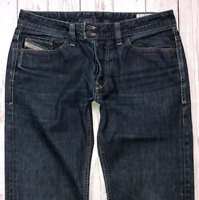 Mens DIESEL Viker-R-Box Jeans W32 L32 Blue Regular Straight Wash 0088Z