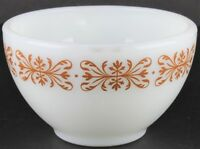 Vintage Pyrex Copper Filigree Tableware by Corning Coffee Cup Mug Milk Glass