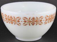 Vintage Pyrex Copper Filigree Tableware by Corning Coffee Cup Mug Milk Glass